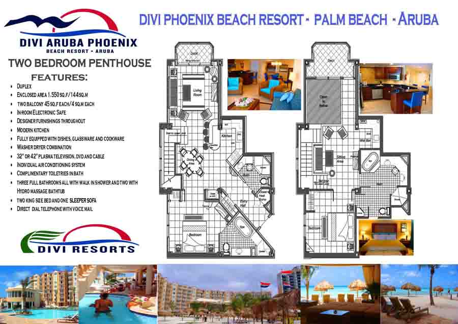 Divi Aruba Phoenix Beach Resort Floor Plan