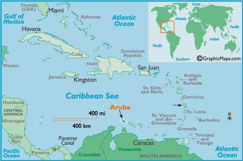- Aruba and us map